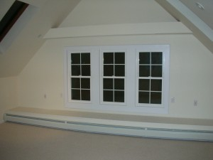Victorian attic suite window bay